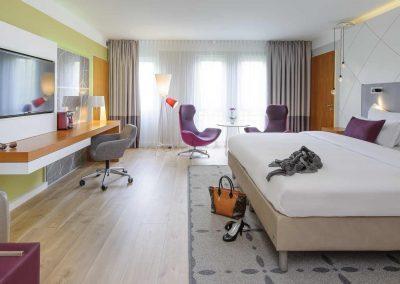 Mercure Hotel Kamen Unna Juniorsuite Bett Detailansicht